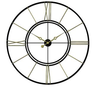 Roman Iron Wall Clock