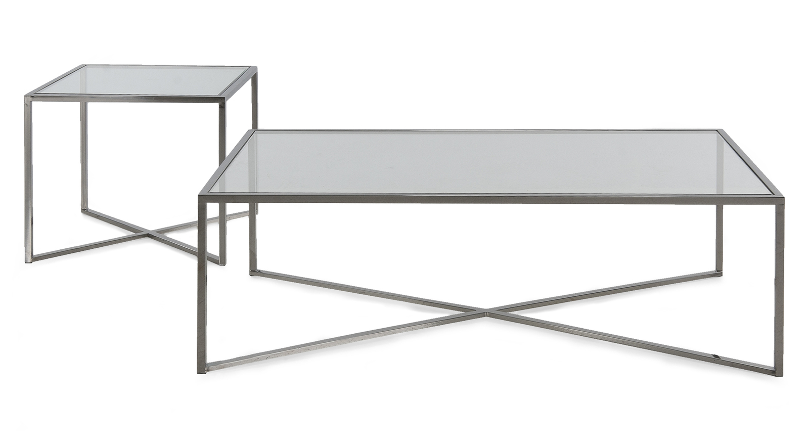 Cross Over Glass Tables