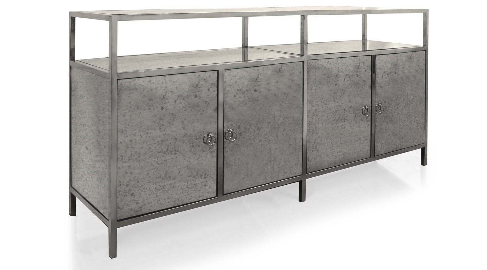 Luxe Mirrored Credenza
